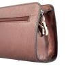 Женская кожаная сумочка МІС 2435 бордовый металик 3