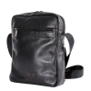 Мужская кожаная сумка Vesson  4553 черная 3