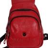 Женский кожаный сумка-рюкзак 2596 красный 3