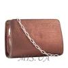 Женская кожаная сумочка МІС 2435 бордовый металик 4