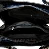 Женская кожаная сумка - портфель 2528 темно-синяя 5