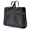 Женская кожаная сумка - портфель 2528 темно-синяя 4