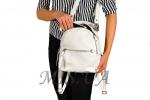 Рюкзак-сумка кожаный МІС 2537 белый 5