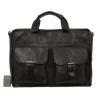 Мужской кожаный портфель 4301 черный 1