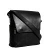 Мужская кожаная сумка Vesson 4633 черная  3