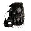 Женский кожаный рюкзак 381951 черный 2