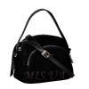 Женская замшевая сумка МІС 0710 черная 1