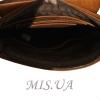 Men's leather bag 4392 orange 4