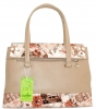 Жіноча сумка 35454 бежева з кольоровим принтом 3