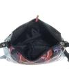 Женская сумка 32958 черная с цветным принтом 7