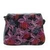 Женская сумка 32958 черная с цветным принтом 0