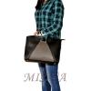 Женская сумка 35601 черная с серым 5