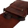 Мужская кожаная сумка Vesson 4623 рыжая 4
