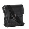 Мужская кожаная сумка Vesson  4564 черная 2
