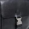 Мужская кожаная сумка Vesson 4632 черная  2