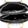 Женская сумка 35596-1 черная-комбинированая 5