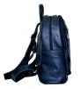 Leather backpack 2523 blue 2