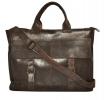 Мужской кожаный портфель 4252 коричневый 5