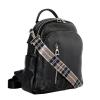 Женский кожаный сумка-рюкзак 2583 черный 3