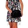 Женская замшевая сумка МІС 0710 черная 5