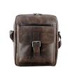 Мужская кожаная сумка Vesson  4568 коричневая - гранж 0