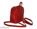 Шкіряний рюкзак 2517 червоний 4
