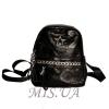 Женский кожаный рюкзак 381951 черный 0