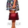 Женская замшевая сумка МIС 0703 бордовая 5