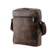Мужская кожаная сумка Vesson  4568 коричневая - гранж 3