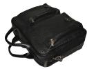 Мужской кожаный портфель-сумка 4368 черный 5