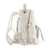Рюкзак-сумка кожаный МІС 2537 белый 3