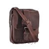 Мужская кожаная сумка Vesson 4558 коричневая 3