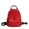 Женский кожаный сумка-рюкзак 2596 красный 0