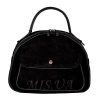 Женская замшевая сумка МIС 0704 черная 0