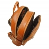Leather backpack 2523 brown 4