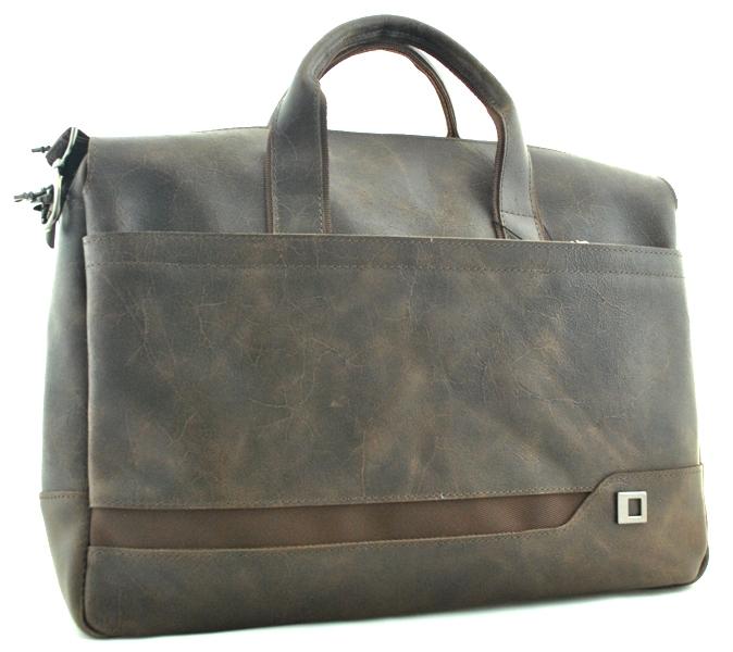 Мужской портфель 4273 коричневый крек