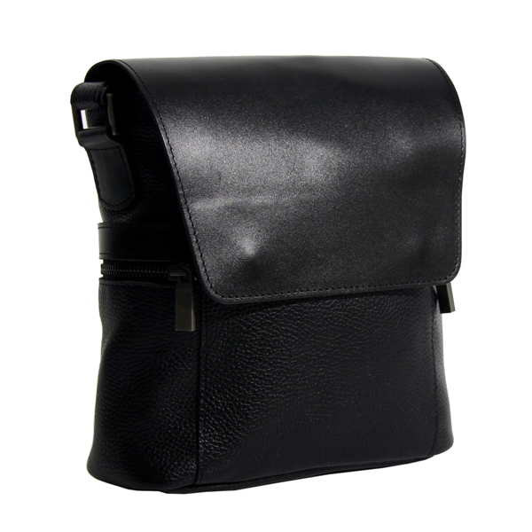 Мужская кожаная сумка Vesson 4633 черная