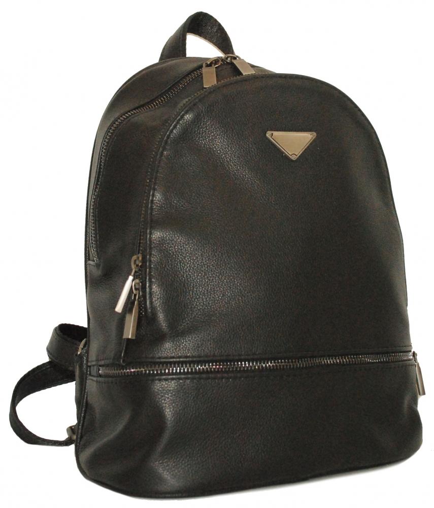 Кожаный рюкзак 4342 черный