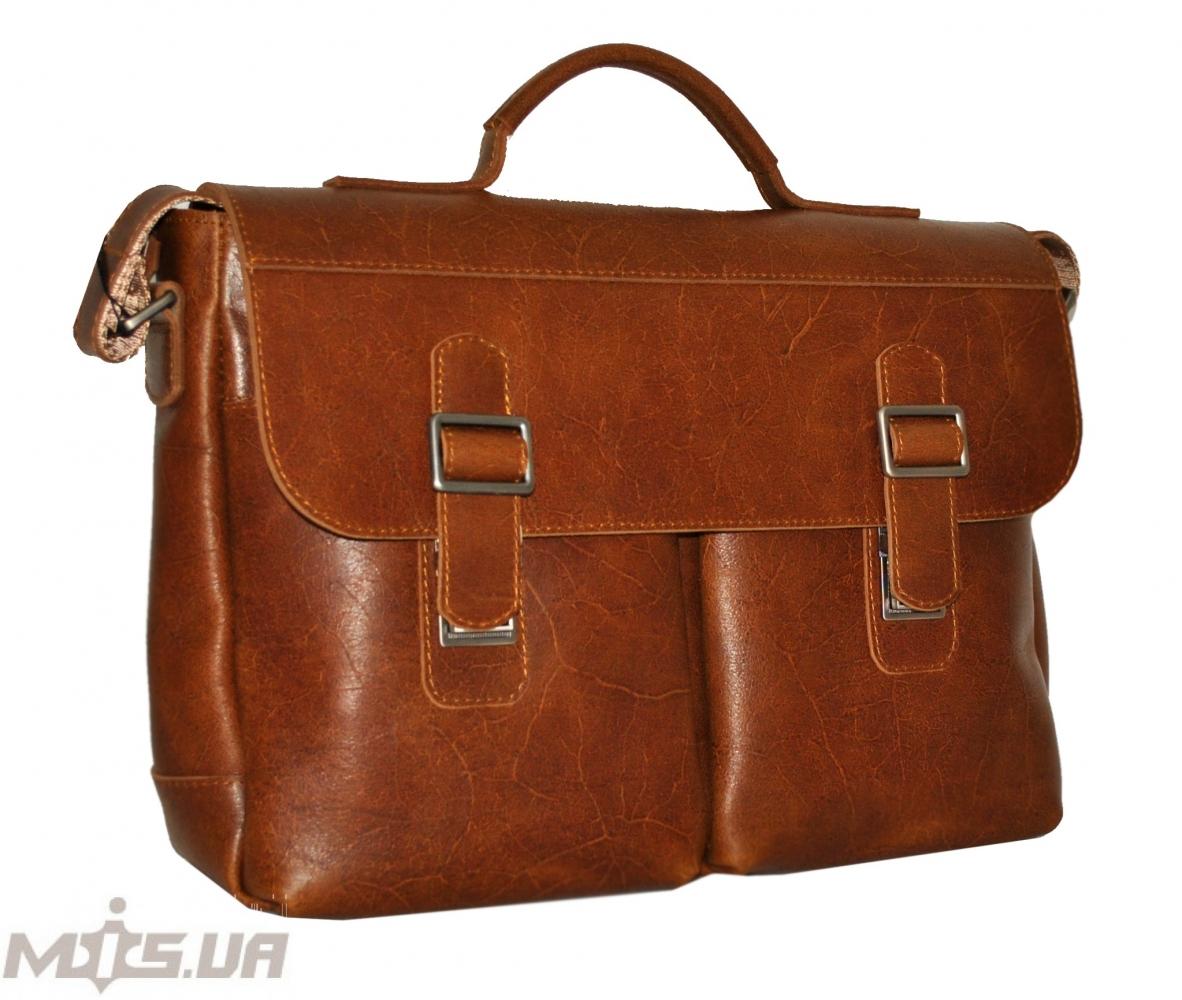Мужской кожаный портфель 4227 рыжий