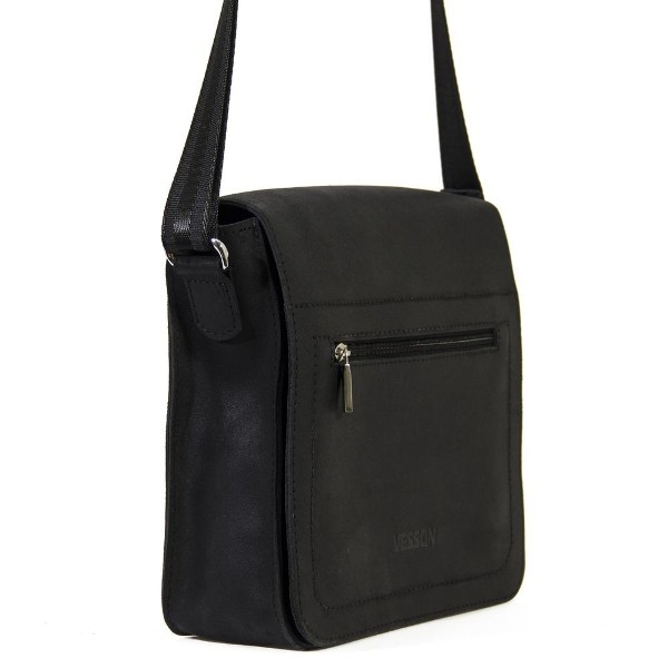 Мужская кожаная сумка 4234 черная