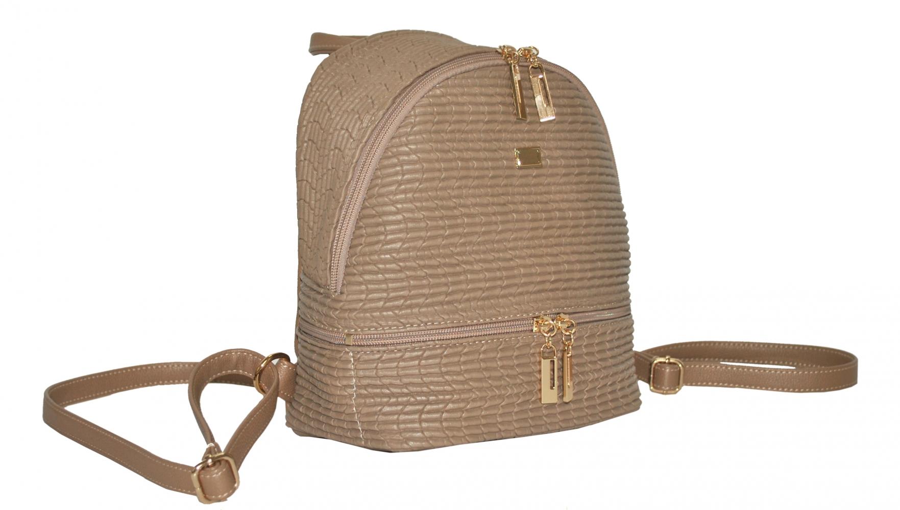 Женский рюкзак 35437 бежевый