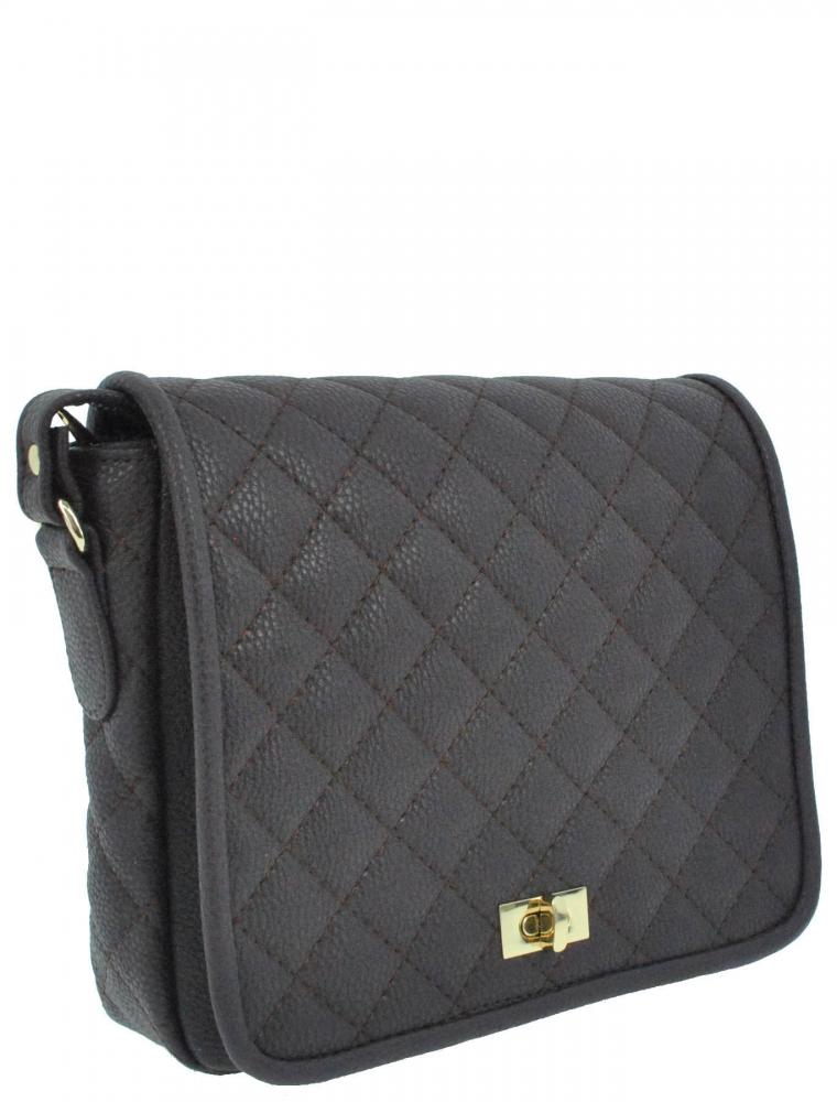 Женска сумка 35353 темно-фиолетовая