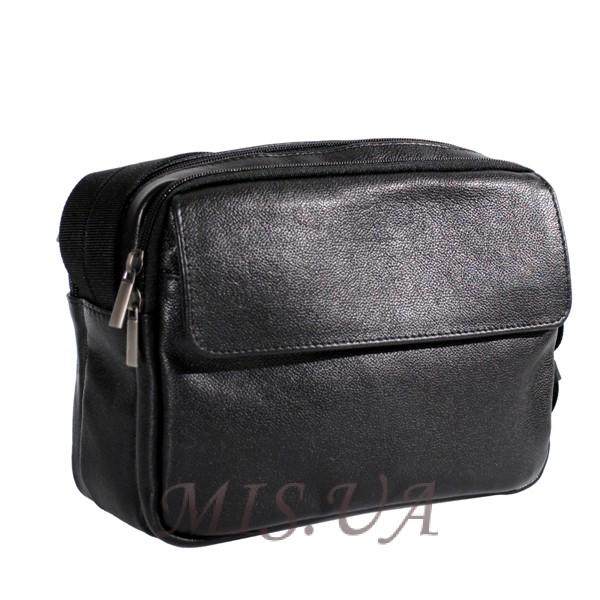 Мужская кожаная сумка Vesson 4570 черная