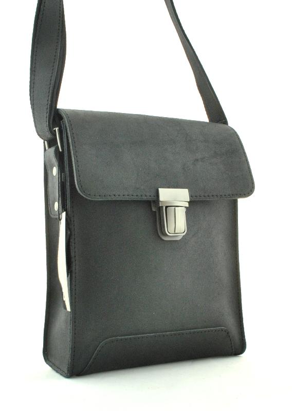 Мужская кожаная сумка 4249 черная