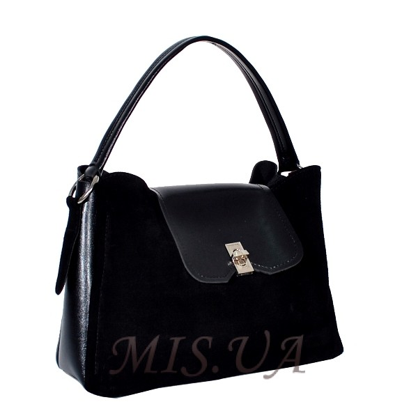 Женская замшевая сумка MIC 0703 черная