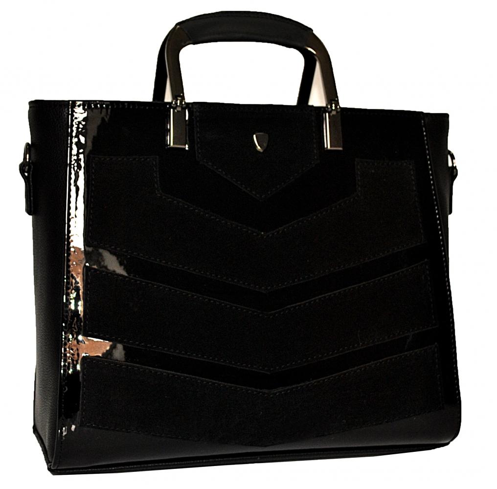 bd70e8bec925 Купить комбинированную чорную женскую сумку 0642 c доставкой по ...