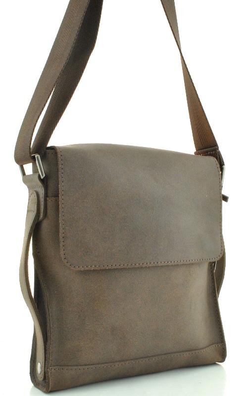 Мужская кожаная сумка 4259 коричневая
