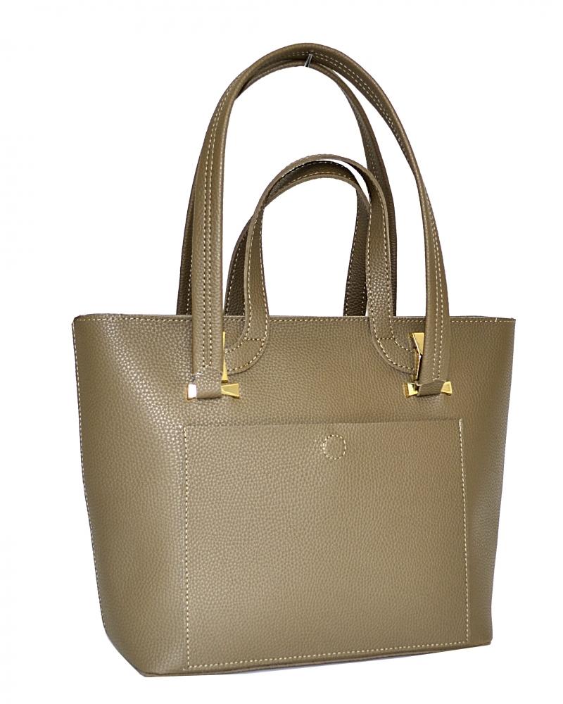 Женская сумка 35450 темно - бежевая