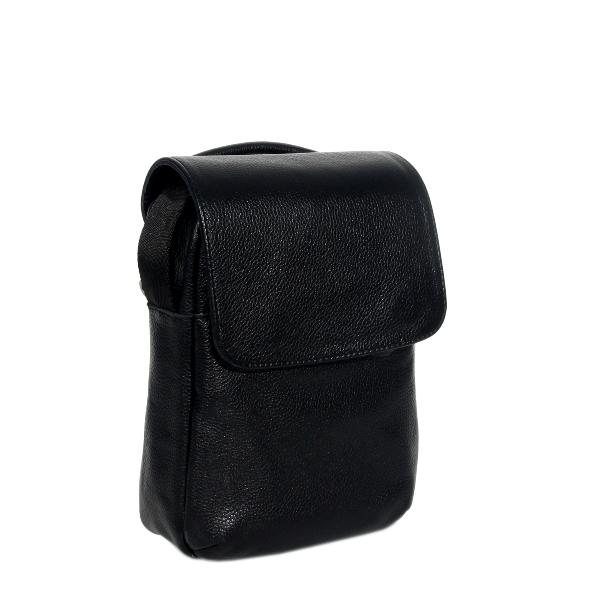 Мужская кожаная сумка Vesson 4673 черная