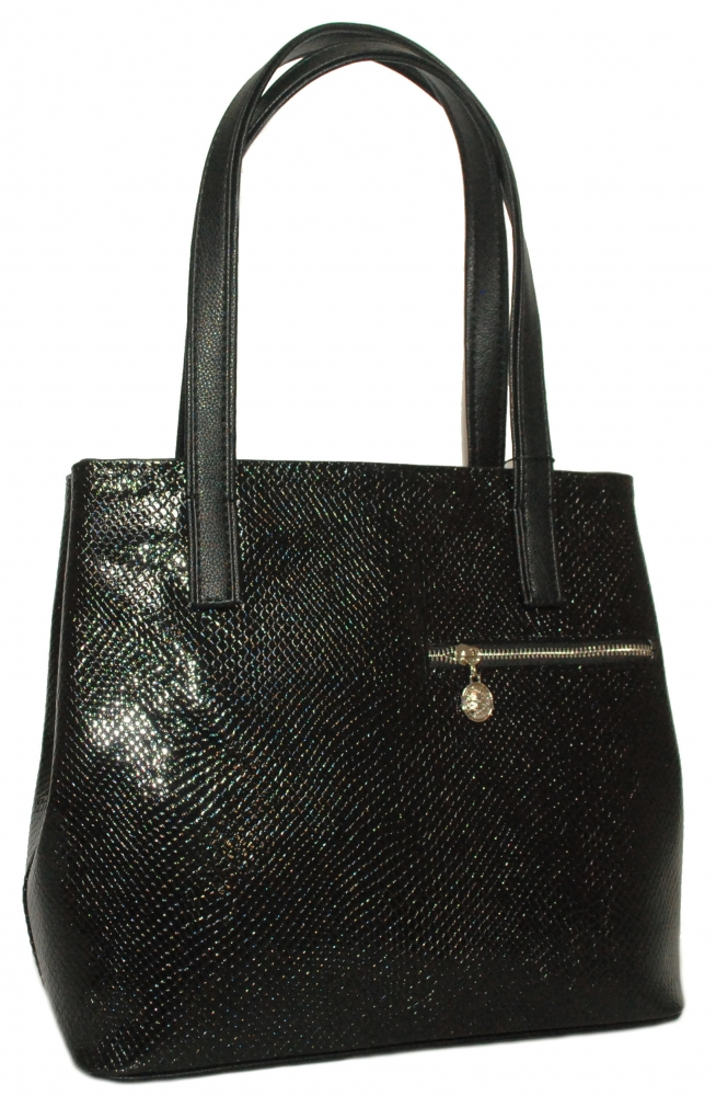 Women Bag 35381 black with embossing